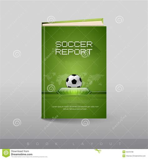 soccer player id cards templates modern abstract brochure as book football theme stock