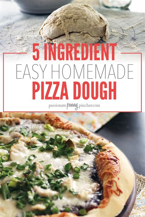 Easy Handmade Pizza Dough - 5 ingredient easy pizza dough