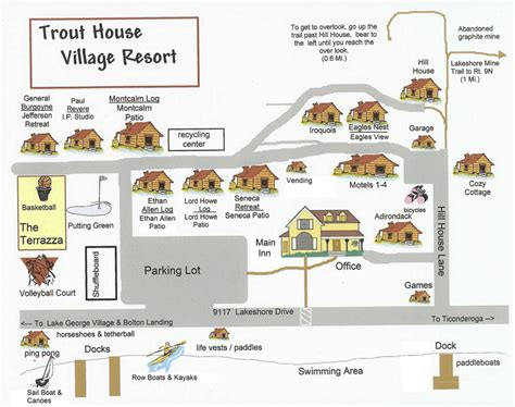 trout house village resort trout house village resort map