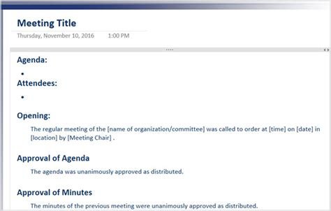 The 12 Best Meeting Minutes Templates For Professionals One On One Meeting Email Template