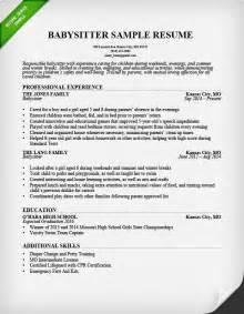 Babysitter Resume Example Amp Writing Guide Resume Genius