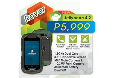 rugged phones philippines cherry mobile rover rugged android smartphone for php5 999 noypigeeks philippines