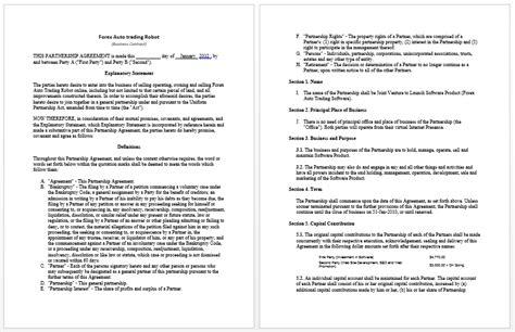 11 unique business partnership agreement sample worddocx