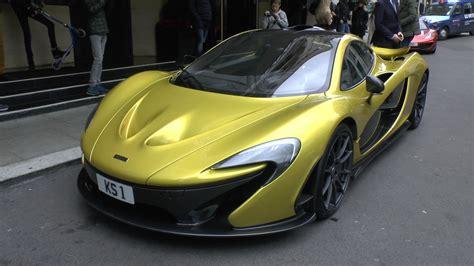 Unique GOLD McLaren P1 in London!!   YouTube