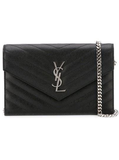 saint laurent chain wallet ysl monogram quilted envelope
