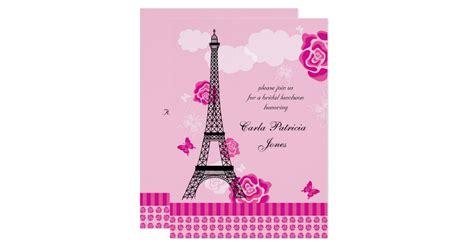 eiffel tower bridal shower invitation zazzle