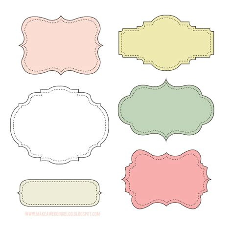 makea free cute label frames look at these labels