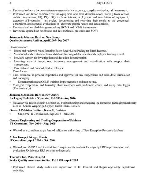 Qa Auditor by Qa Auditor Resume Syed Hussain 07 14 15 1