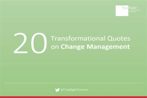 kotter quote on change management 20 transformational quotes on change management topright