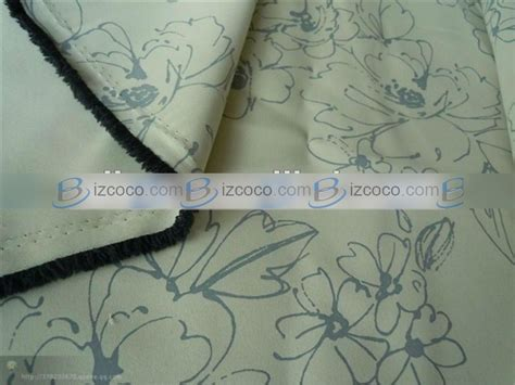 thermal drapery fabric drapery fabric flower printed thermal blackout fabric
