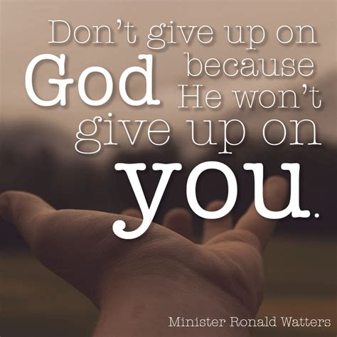 Don T Give Up don t give up on god