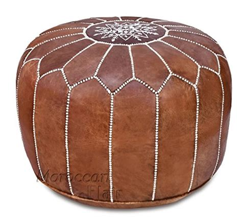 how to stuff a pouf ottoman stuffed handmade genuine leather moroccan pouf ottoman