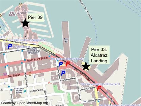 san francisco map pier 33 visit alcatraz tips to prepare for your visit
