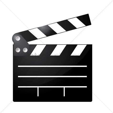 film slate emoji clapperboard vector image 1875149 stockunlimited