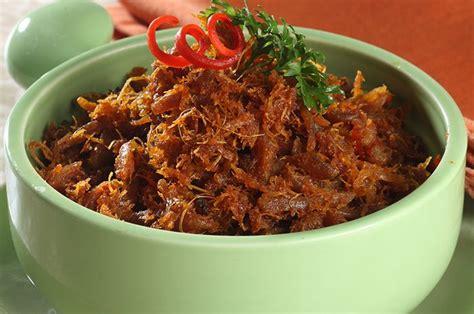 resep rendang ayam suwir kering lezat  cocok jadi menu