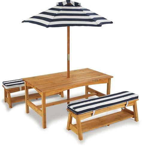 ensemble table et bancs d ext 233 rieur avec parasol enfant