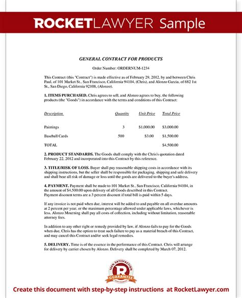business contract template business sales agreement sle