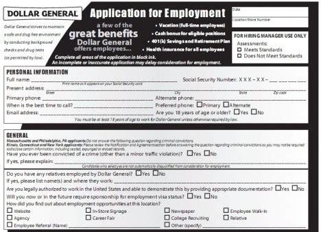 printable job application for family dollar dollar general application pdf print out dollar general