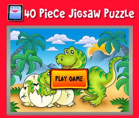 printable dinosaur jigsaw puzzles cartoon dinosaurs 40 piece jigsaw puzzles for ipad and