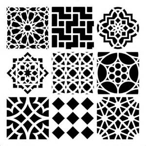 Moroccan Tile Template by Stencil Template Mini Moroccan Tiles Crafter S