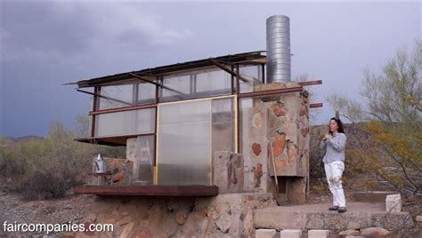 Tiny Houses Arizona survivalist tiny dorms at frank lloyd wright s taliesin
