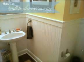 Bathroom Beadboard Installation How To Install Beadboard Wainscoting Like A Pro The