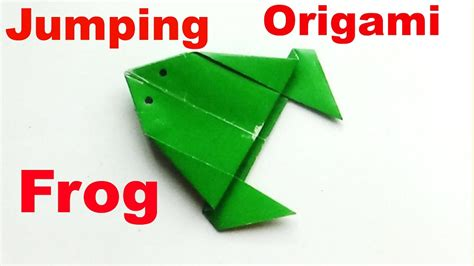 How To Make A Jumping Frog Out Of Paper - how to make a paper jumping frog origami frog a