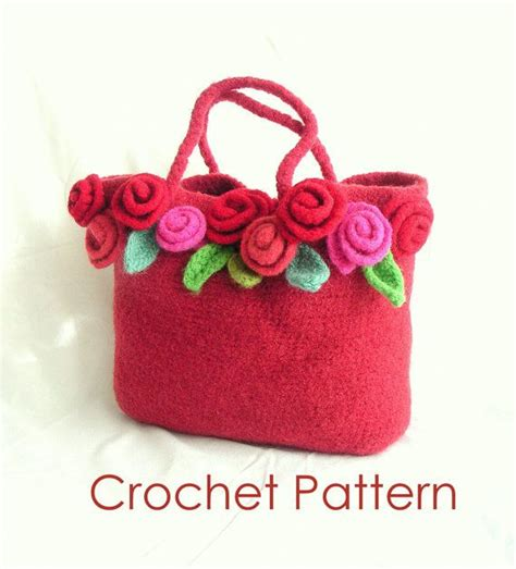 Felted Lambswool Blossom Handbag From Into by How To Make Crochet Felted Flower Bag Pattern Tutorial