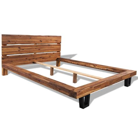 futon lattenrost 140x200 vidaxl bed frame solid acacia wood 140x200 cm vidaxl co uk