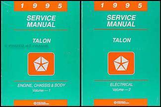 service manual 1995 eagle talon speedometer repair service manual 1995 eagle talon 1995 eagle talon repair shop manual original 2 volume set