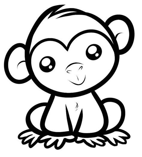 printable monkey art monkey template animal templates free premium templates