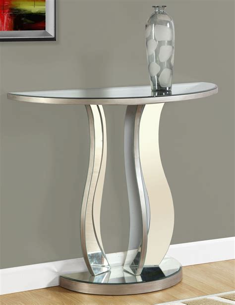 36 console table brushed silver 36 quot console table 3727 monarch