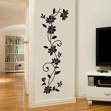 decorative decals for home romance fashion botanical wall stickers plane wall