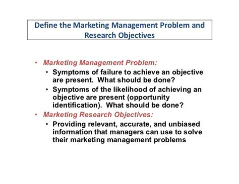 problem statement and research objectives defining the problem and determining research objectives