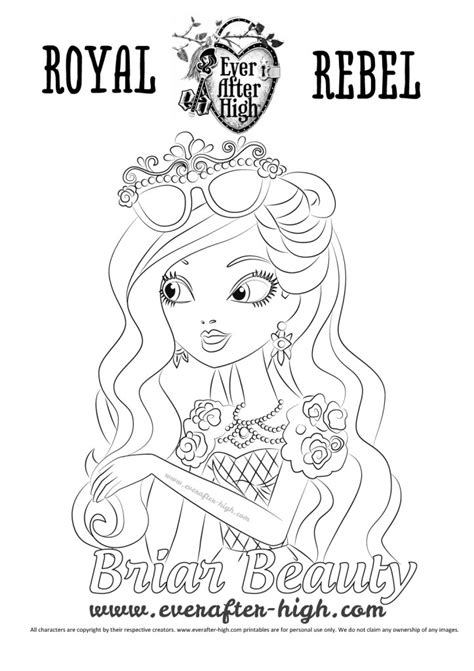 briar beauty s face coloring page ever after high