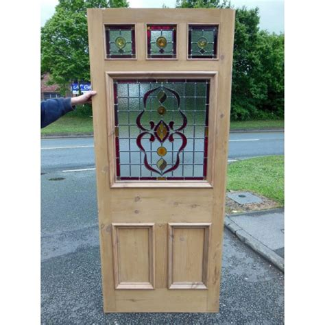 6 Panel Door With Glass by 6 Panel Nouveau Stained Glass Door Period Home Style