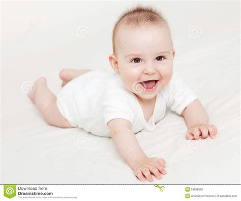 baby 4 months royalty free baby smiling royalty free stock image image 33288516