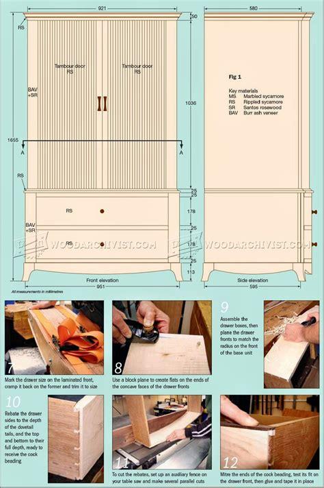 wardrobe woodworking plans sycamore wardrobe plans woodarchivist