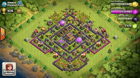town hall 8 hybrid base clash of clans tactics blog