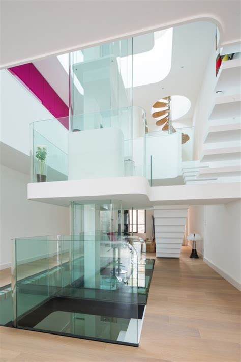 The Glass Room New Rochelle by A House Built Around A Central Atrium Design Milk