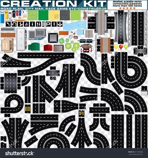 street racing design elements vector road trip map clip art 66