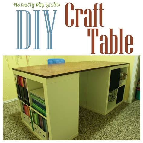 diy craft table ikea tutorial make your own custom craft table the crafty