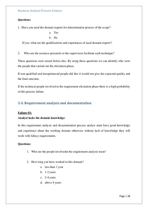 business requirements questionnaire template images