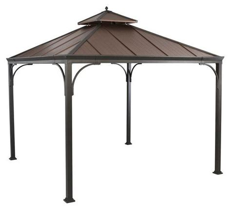 backyard gazebos home depot hton bay gazebos 10 ft x 10 ft gazebo browns