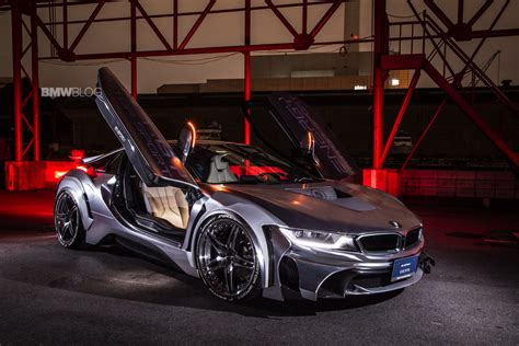 bmw i8 modified bmw i8 cyber edition gets an evo bodykit