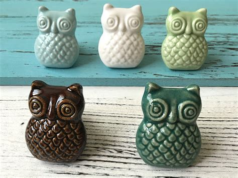 Owl Drawer Knobs by Owl Knobs Drawer Knob Pulls Ceramic Cabinet Door Knobs Dresser