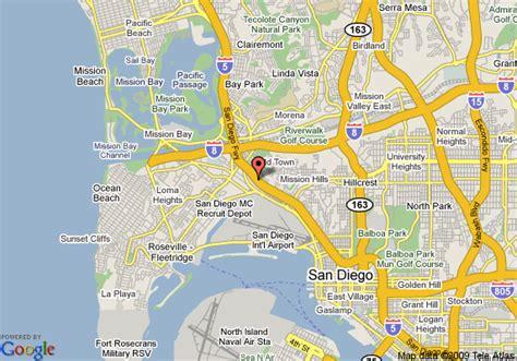 california map la quinta map of la quinta inn san diego town san diego