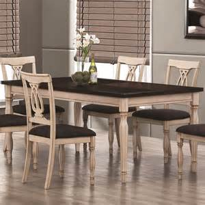 Kitchen Dining Tables by Camille Antique White And Merlot Dining Table