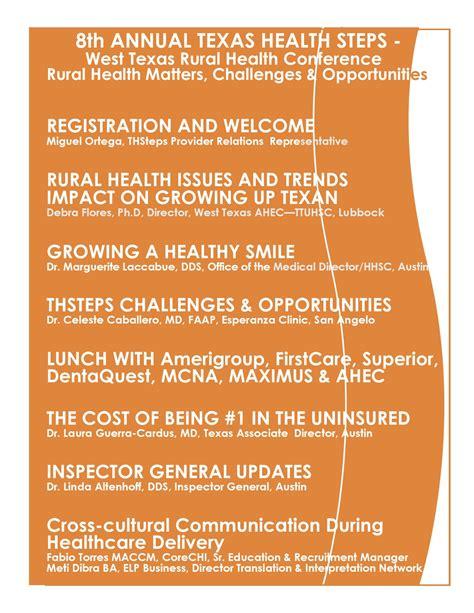rural health challenges 8th annual health steps west rural health