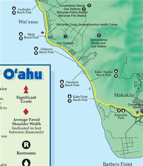 highways bike map oahu